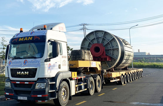 Transport and Install oversize ball mill equipments (Dong Nai, Vietnam)