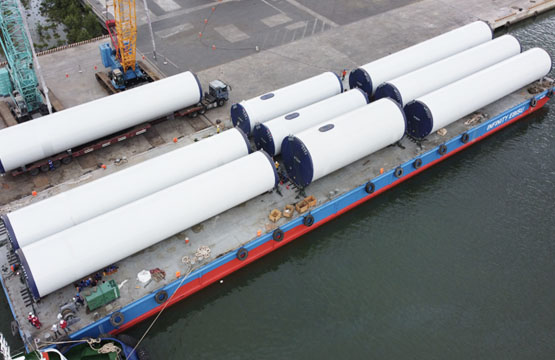 Transport tower sections for Wind Power Plants - Phong Lieu and B&T Wind Power Project
