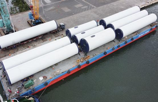 Vận chuyển thiết bị điện gió - dự án Phong Liễu và B&T
