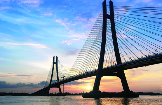 Vam Cong Cable Bridge (Can Tho, Vietnam)