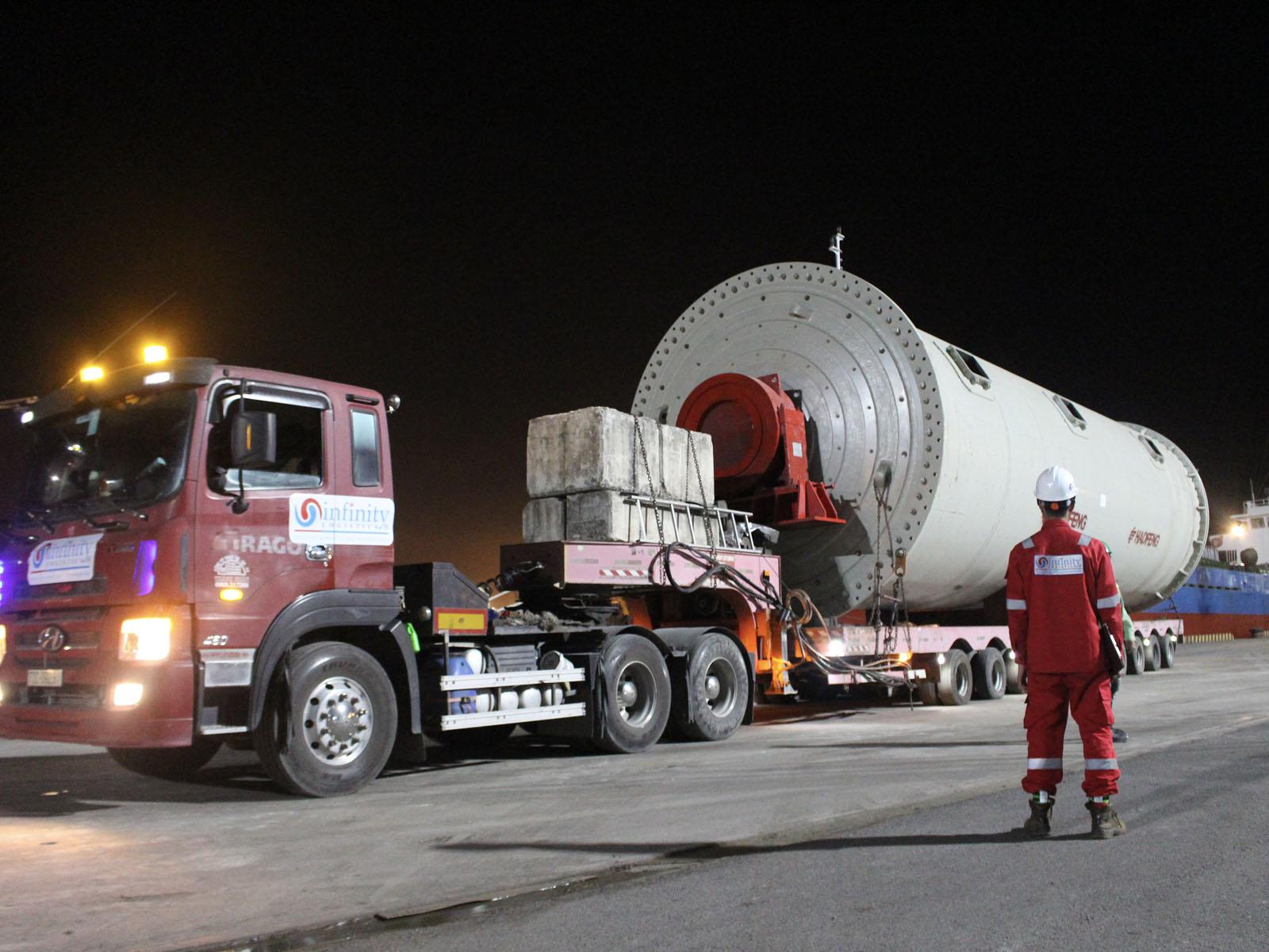 unloading oversize machine